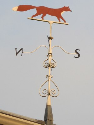 Fox weathervane near the church