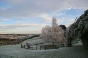 Frosty morning looking across the valley from the top of Carter's Hill