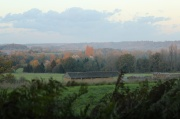 View across the valley with the once longest barn in Essex