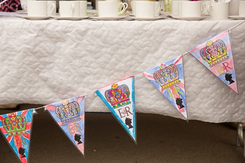 Bunting - coloured in by the Children