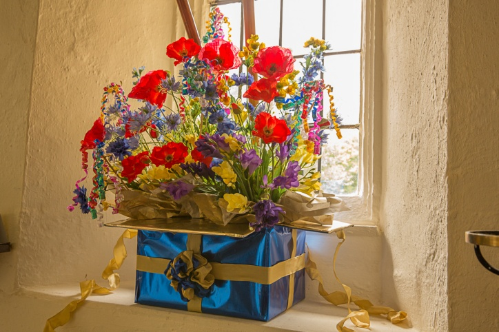 Bridget's display for the Royal British Legion - A Birthday Surprise