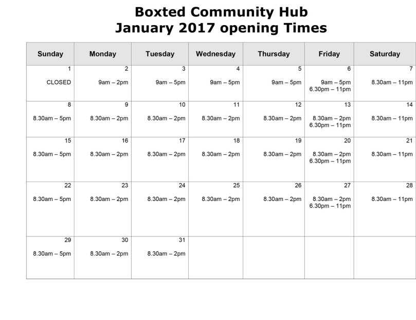 the_hub_january_2017_opening_times