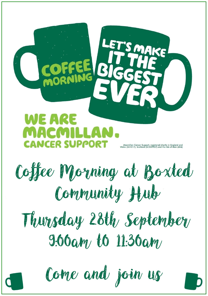 Coffee Morning Poster Boxted Village Website