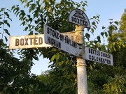 Signpost at Boxted Mill