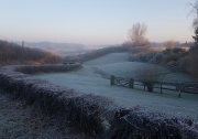 Frosty morning at the top of Carter's Hill
