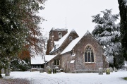 St. Peter's in the snow